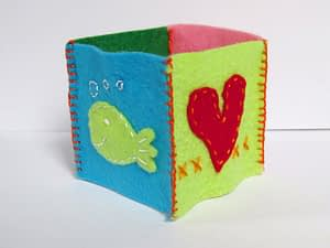 Baby block cube toy hand sew tutorial for beginners step 3