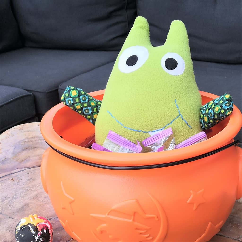 Made with SewToy cute monster animal stuffed toy pattern for beginners
