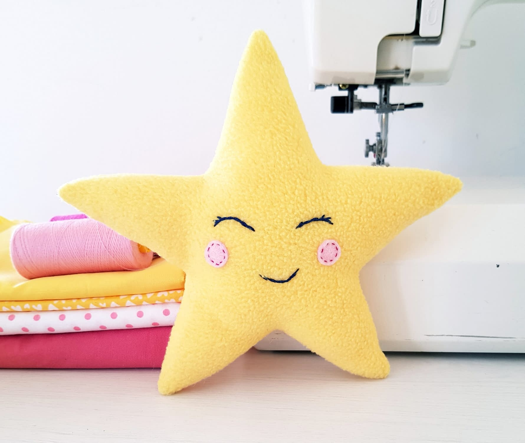 Easy star pillow sewing pattern for beginners