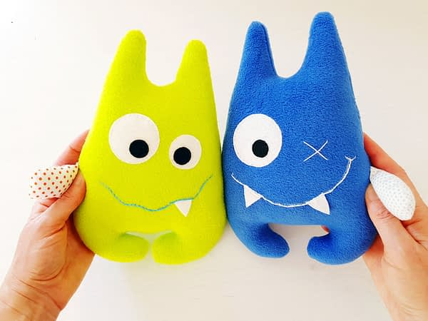 Cute monsters sewing pattern for stuffed animal