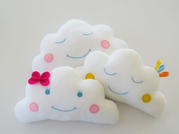Baby cloud pillows pdf sewing pattern for beginners