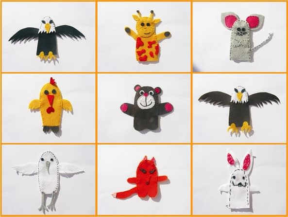 ideas for finger puppets - craft kids