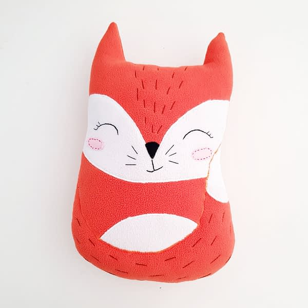 cute and easy sewing pattern for the fox stuffed toy 2