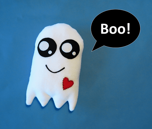 Ghost sewing plushie pattern - toy or pillow PDF sewing pattern and tutorial with instant download