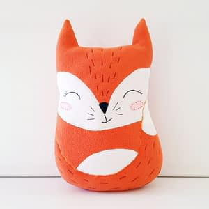 cute and easy sewing pattern for the fox stuffed toy 1
