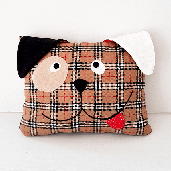 Cute dog pillow easy sewing pattern and tutorial for beginners