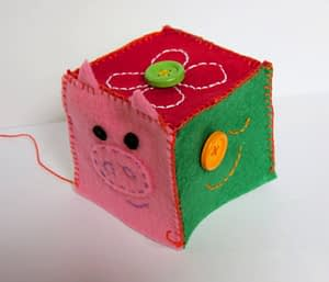 Baby block cube toy hand sew tutorial for beginners step 5