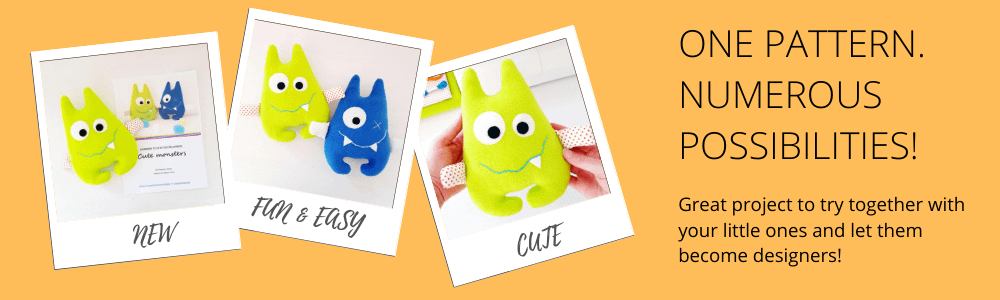 SewToy shop of cute monster sewing pattern