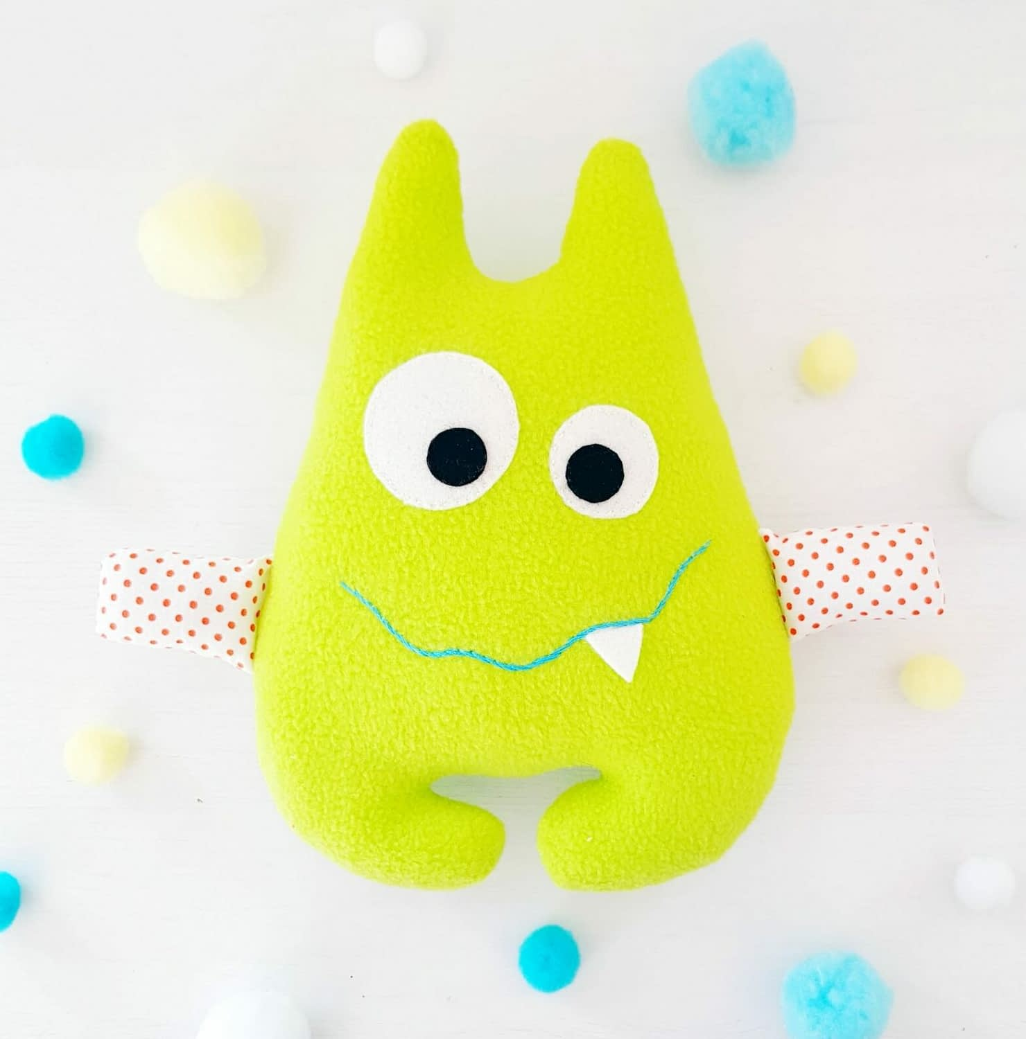 New in the shop - Cute monster sewing pattern for soft toys - beginner