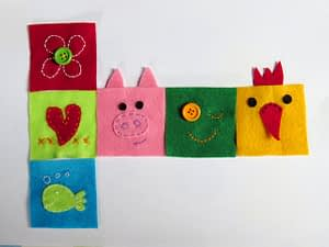 Baby block cube toy hand sew tutorial for beginners step 2