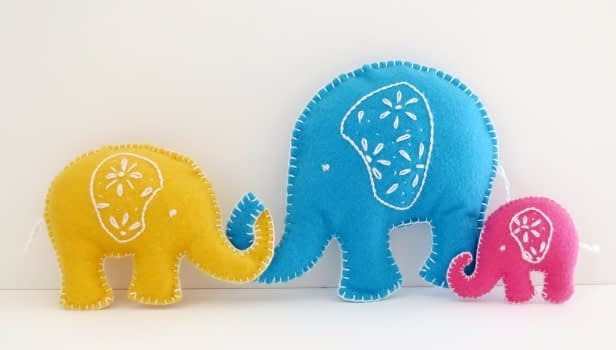 How to sew elephant free tutorial and pattern - step 5