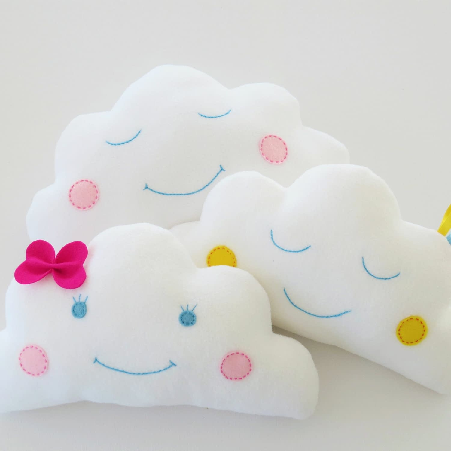 Easy baby cloud pillow sewing pattern for beginners
