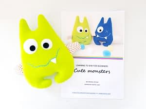 easy sewing project stuffed cute monster animal
