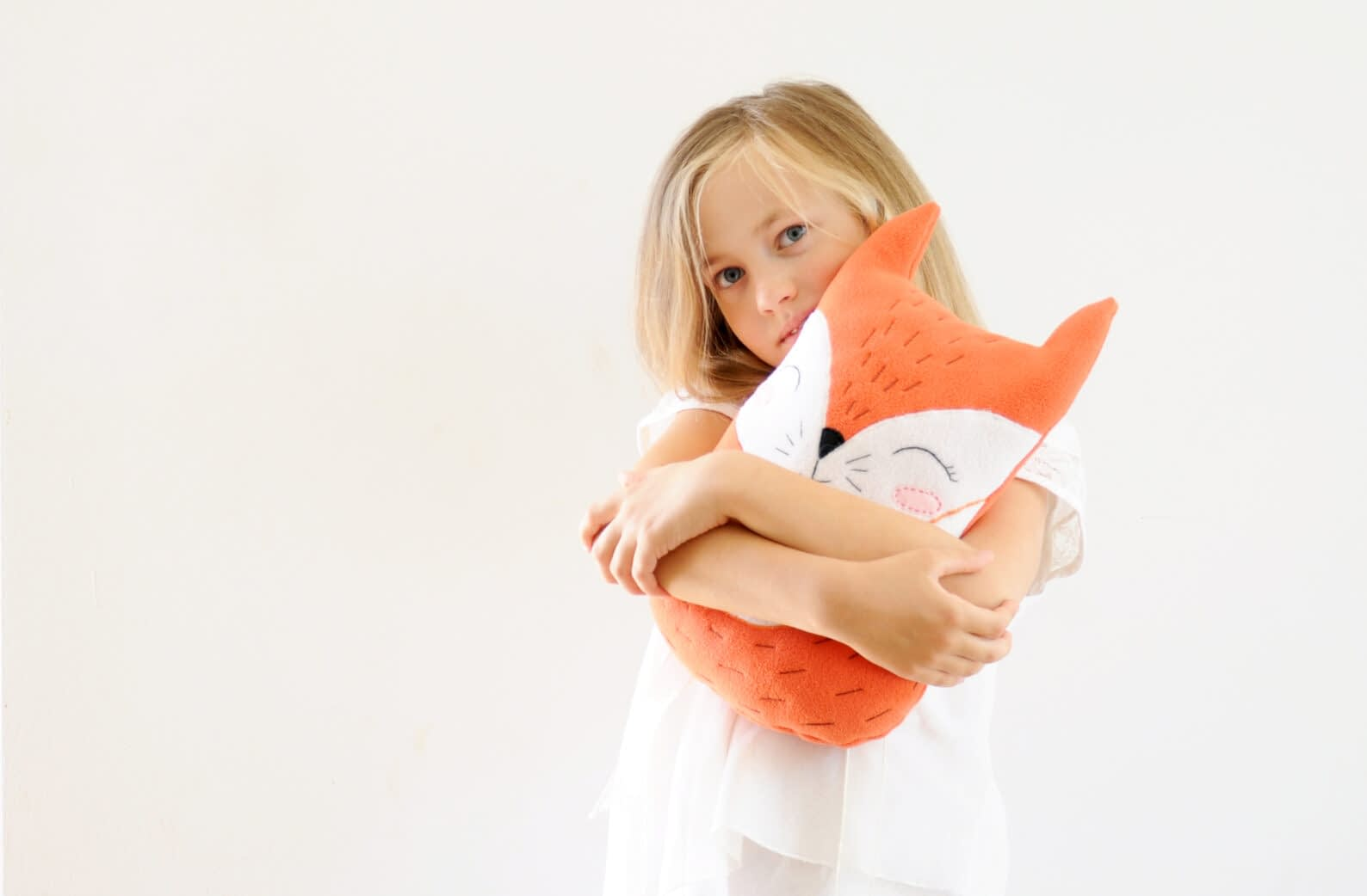Fox plush sewing pattern - cute easy stuffed animal