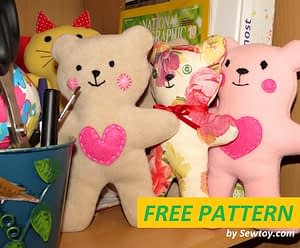 Baby Teddy bear free pattern for easy sewing