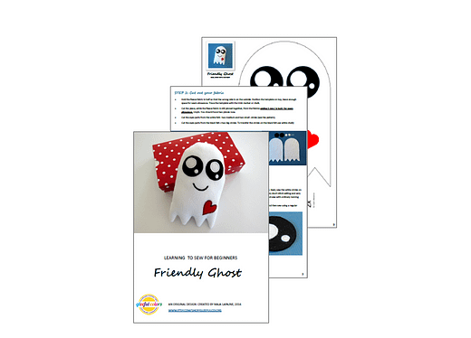 ghost plushie - sewing pattern for beginners