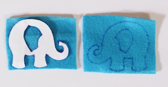 How to sew elephant free tutorial and pattern - step 2