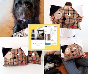 Cute dog pillow_easy sewing pattern and tutorial for betginners