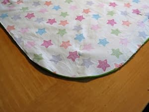 Baby blanket and baby toy two in one with free pattern and tutorial step 1b